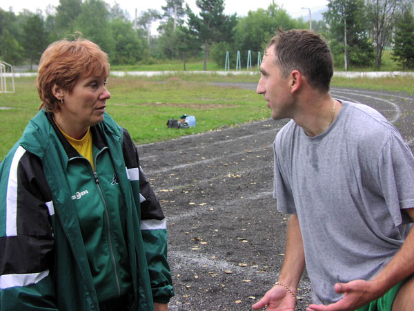 12 августа 2003 года, на предсезонном сборе в Байкальске.  С Олегом Кулаевым