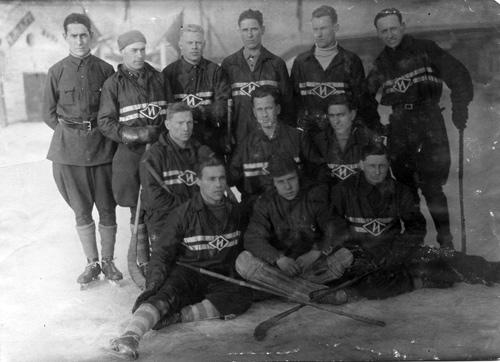 1928 год. Сборная Иркутска по хоккею