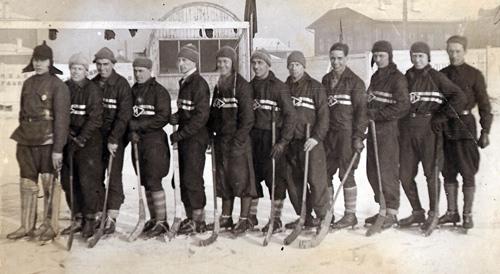 1929 год. Ещё один снимок хоккейной сборной города
