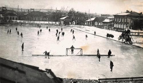 1931 год. Стадион «Динамо».  Хоккейный матч «Динамо» – «Транспортник»