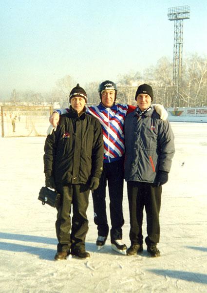2002 год. Михаил Никитин с  Виталием Похоевым и Евгением  Гришиным