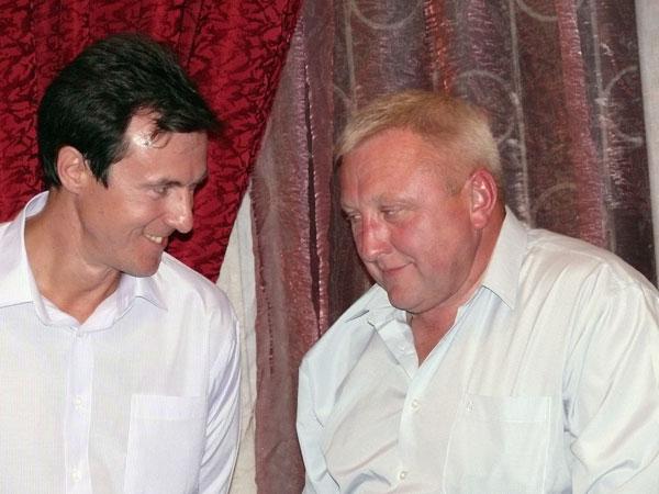 14 сентября 2007 года. Сергей Лазарев и Александр Баборин  на 70-летии Олега Катина