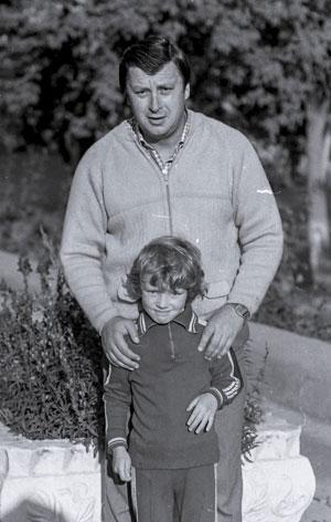 1982 год. Валерий Токмаков с сыном Андреем