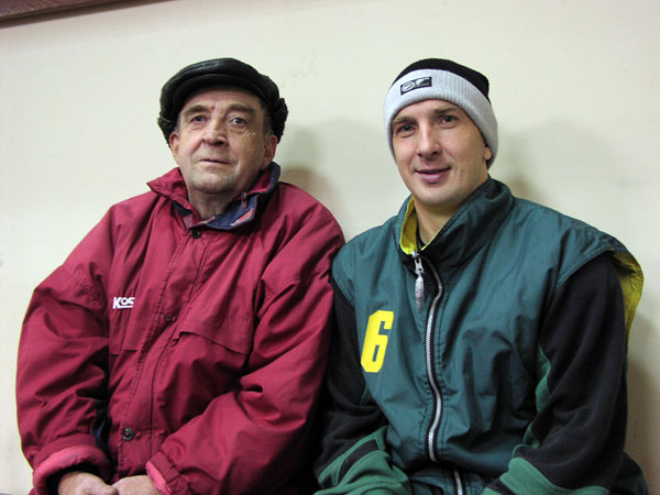 С отцом Владимиром Фёдоровичем на кубковом турнире в Красноярске