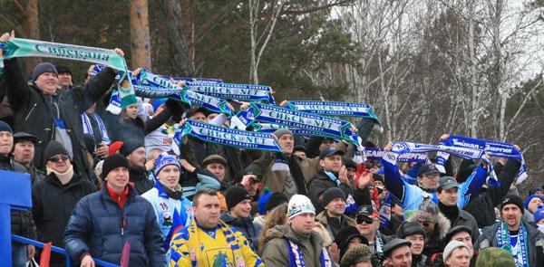 Болельщики «Байкал-Энергии» на стадионе «Рекорд»