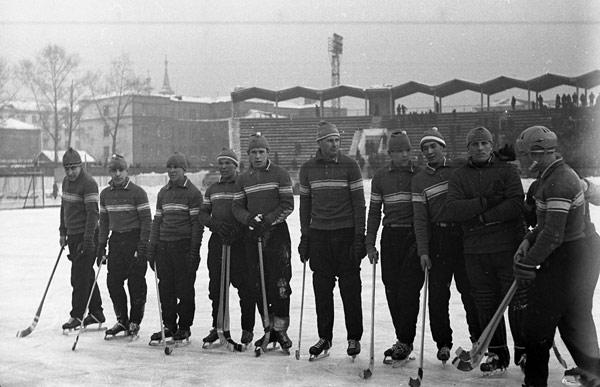 15 февраля 1968 г.  «Локомотив» перед матчем