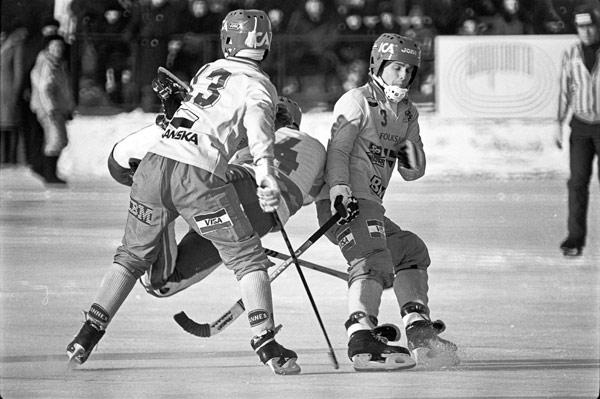15 февраля 1986 г. Момент игры сборных РСФСР и Швеции