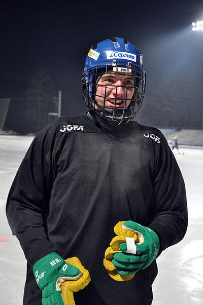 9 декабря 2008 года. Первая  тренировка в составе «Байкал-Энергии», за два дня до дебюта  в команде